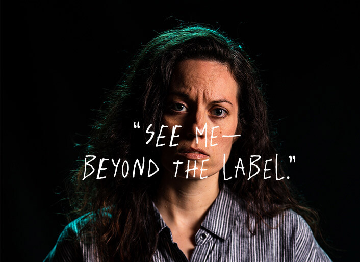 <p>See me - beyond the label.</p>